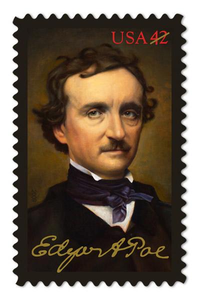 Francobollo per il bicentenario della nascita di Poe