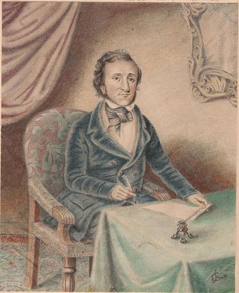 Ritratto di Poe da giovane