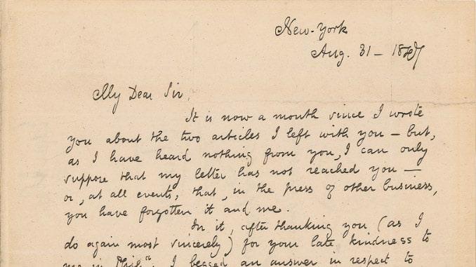 Lettera di Poe a R.T. Conrad del 31 agosto 1847