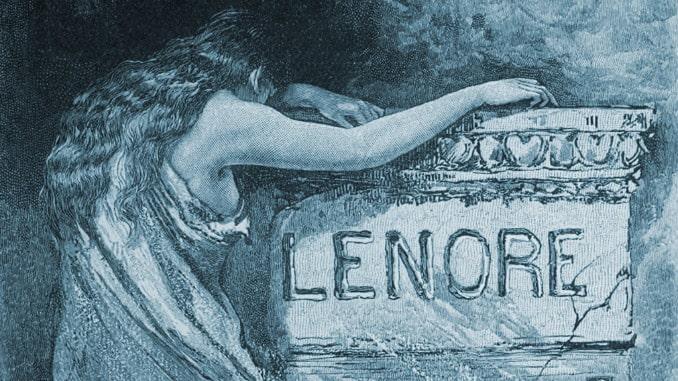 "La poesia ""Lenore"" illustrata da Henry Sandham"